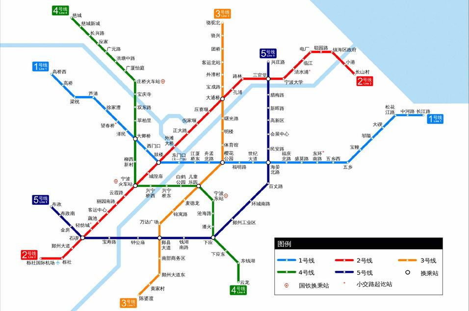 宁波轨道交通2020年规划