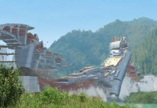 凤凰大桥坍塌事故动画模拟