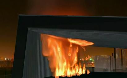 央视新址配楼火灾事故动画模拟