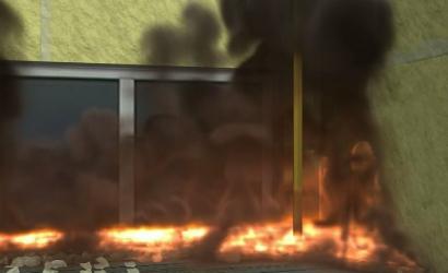 上海市静安区胶州路公寓大楼特大火灾事故动画