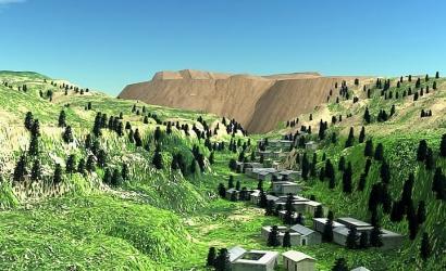 尖山铁矿排土场滑坡事故动画