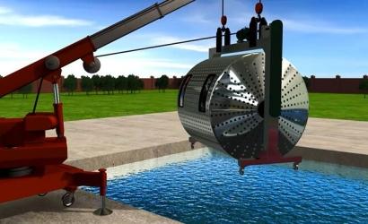 移动式水下逃生训练装备三维动画展示