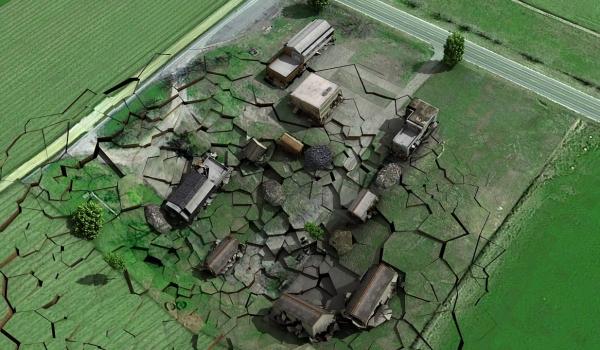 煤矿采空区地面塌陷模拟动画