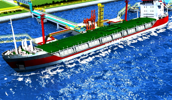 港口码头漏油事故三维演示动画