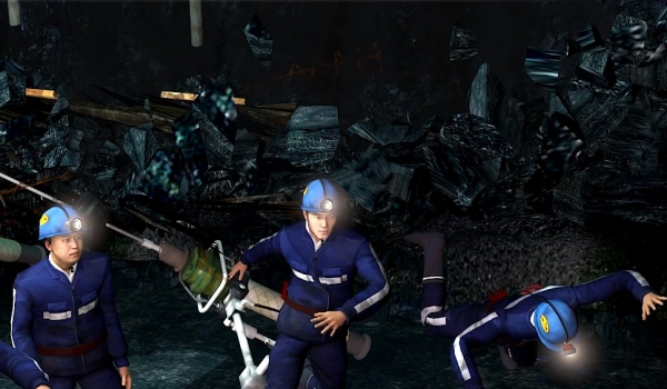 煤矿顶板事故动画模拟警示片